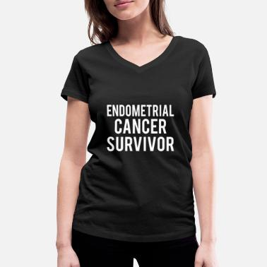 Endometrial Cancer Poison Endometrial Cancer: Endometrial Cancer Survivor - Women's Organic V-Neck T-Shirt