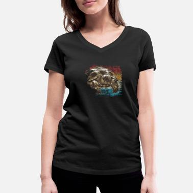 turtle - Women's Organic V-Neck T-Shirt