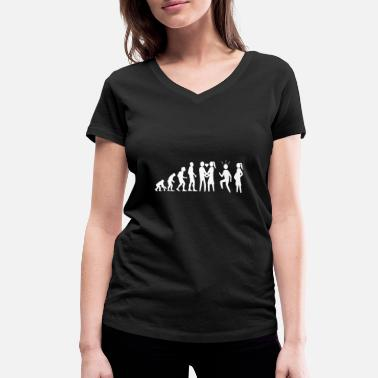 End Human evolution marriage - Women's Organic V-Neck T-Shirt
