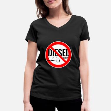 Driving Ban Diesel driving ban demo shirt - Women's Organic V-Neck T-Shirt