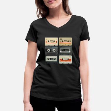 Retro vintage tape: 6 tapes - Women's Organic V-Neck T-Shirt