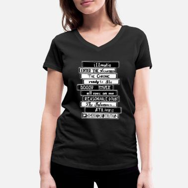 Hip 90´s Classic Tapes - Vrouwen V-hals bio T-shirt