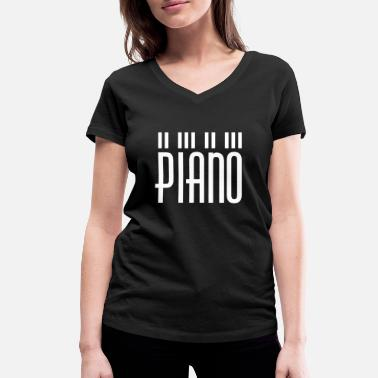 Keys Piano - piano design - Women's Organic V-Neck T-Shirt