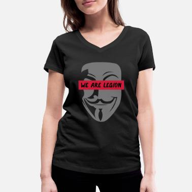 Anonymous anonymous_we_are_legion_002 - Women's Organic V-Neck T-Shirt