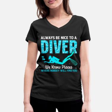 Divers Scuba Diving Dive Underwater Hobby Gift Idea - T-shirt bio col V Femme