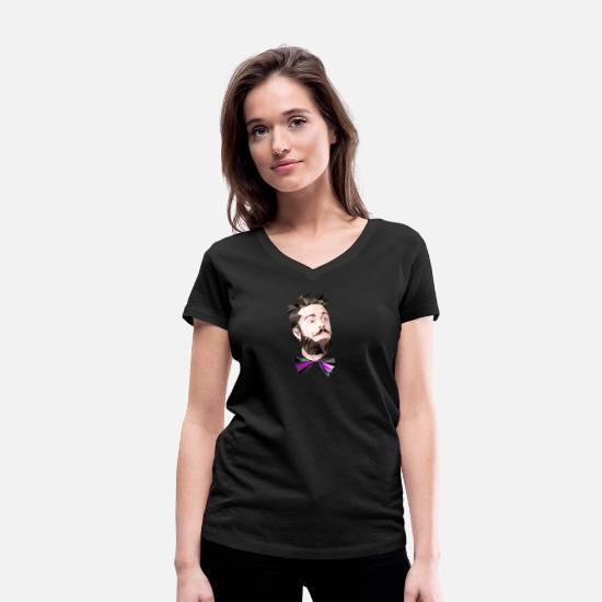 Hipster T-Shirts - hipster - Women's Organic V-Neck T-Shirt black