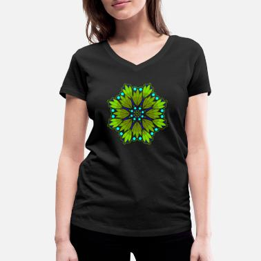 India GoA / Psytrance - Women's Organic V-Neck T-Shirt