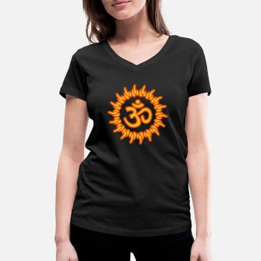 Goa om, ohm, omm, om namah shivaya, ॐ, aum - Women's Organic V-Neck T-Shirt