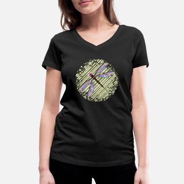 Feral Dragonfly - Women's Organic V-Neck T-Shirt