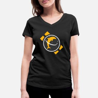 Space Dolphin - Women's Organic V-Neck T-Shirt