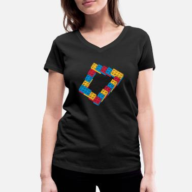 Occupation optical illusion - endless steps - Women's Organic V-Neck T-Shirt