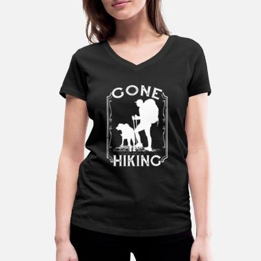 Hike Gone Hiking Nature Lover Mountain Hiker - Frauen Bio T-Shirt mit V-Ausschnitt
