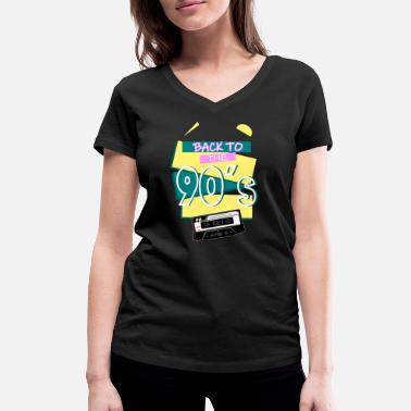 90 Min Back to the 90's - The 90s - 90s - Women's Organic V-Neck T-Shirt
