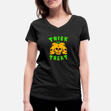 Trick Or Treat Trick or treating! Trick or treat! - Women's Organic V-Neck T-Shirt