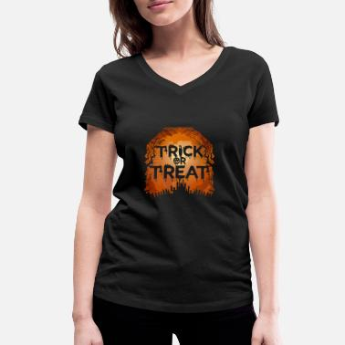 Trick Or Treat Trick Or Treat - Frauen Bio T-Shirt mit V-Ausschnitt