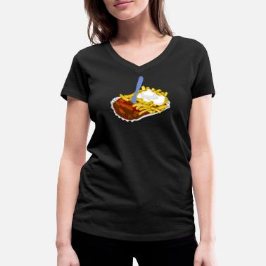 Fast Food fast food - Women's Organic V-Neck T-Shirt