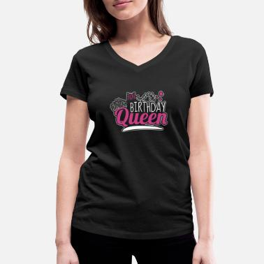Celebrating With The 30th Birthday Queen 30th Birthday / Years 30th Birthday Queen Gift - Women's Organic V-Neck T-Shirt