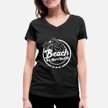 Beach Beach Volleyball Beach Beach - Women's Organic V-Neck T-Shirt