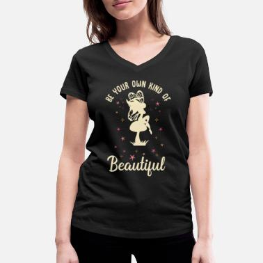 Message Eleven kind of beautiful positive message fairy - Women's Organic V-Neck T-Shirt