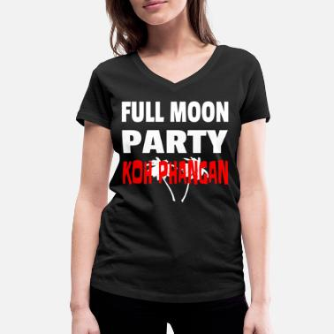 Party Full Moon Party, Thailand, presentidé - Ekologisk T-shirt med V-ringning dam