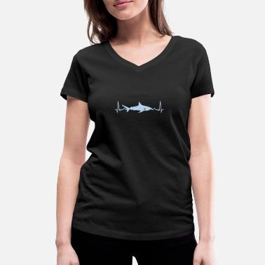 Bass Line Shark bass line - Women's Organic V-Neck T-Shirt