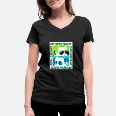 Global Global Warming of Global Greening - Vrouwen V-hals bio T-shirt