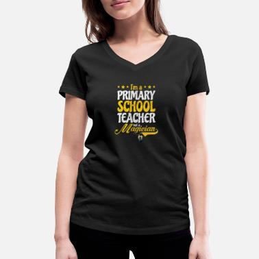 Grade Teacher Magician Elementary School Gift - Women's Organic V-Neck T-Shirt