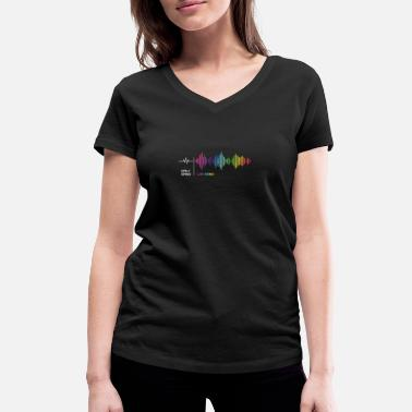 Equalizer Daily grind - Weekend Frequency Music Rainbow - Vrouwen V-hals bio T-shirt