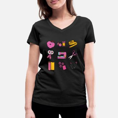 Tool Womens Funny Quilting print And Quilter Gift - Women's Organic V-Neck T-Shirt