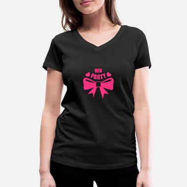 Hen Night Steg & Hen Nights, Hen Party, Hen Parties - Ekologisk T-shirt med V-ringning dam