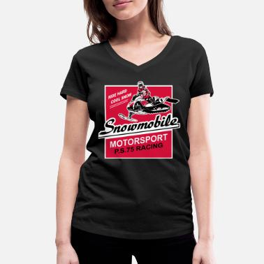Snowmobile Snowmobil - snowmobile - snowmobile - Women's Organic V-Neck T-Shirt