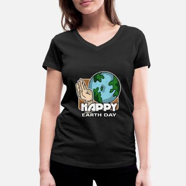Earth Day Earth Day - Earth Day - Vrouwen V-hals bio T-shirt