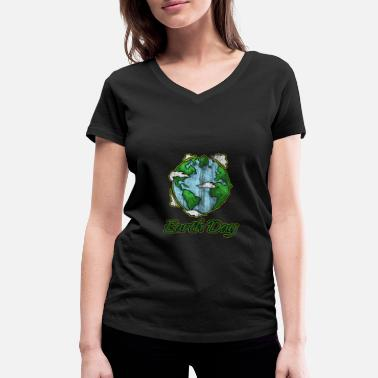 Earth Day Earth Day - Earth Day - Women's Organic V-Neck T-Shirt
