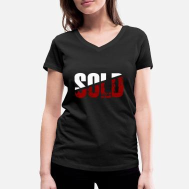 Sold sold - Women's Organic V-Neck T-Shirt