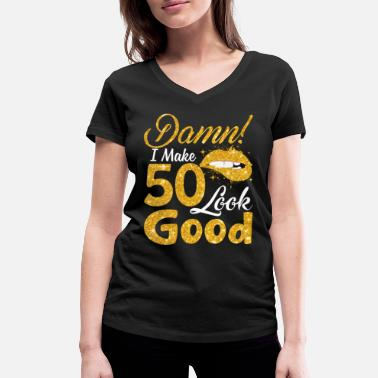 Gym I Make 50 Look Good Rolig 50-årsdag T-shirt - Ekologisk T-shirt med V-ringning dam