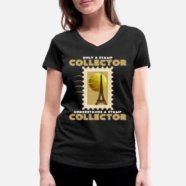 Stamp Collecting Stamp collection - Women's Organic V-Neck T-Shirt