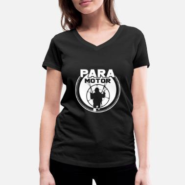 Screen Paragliding with motor - Women's Organic V-Neck T-Shirt