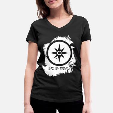 b00cd663a Bolivia country - Women  39 s Organic V-Neck T-Shirt