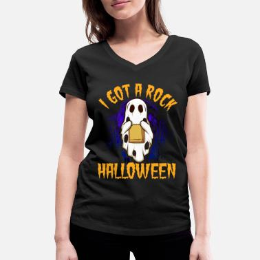 I have a rock Halloween 2 - Women's Organic V-Neck T-Shirt