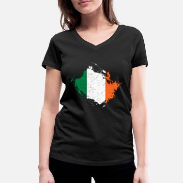 Ireland coat of arms - Women's Organic V-Neck T-Shirt
