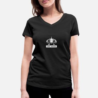 Time Travel Time Travel Time Travel - Women's Organic V-Neck T-Shirt