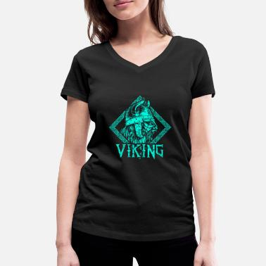 Warrior Viking warrior middle ages - Women's Organic V-Neck T-Shirt