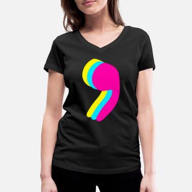 Comma Comma - punctuation - Women's Organic V-Neck T-Shirt