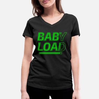 Baby On Board baby loading on board baby belly - Women's Organic V-Neck T-Shirt