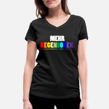 Text Rainbow text colorful gift - Women's Organic V-Neck T-Shirt