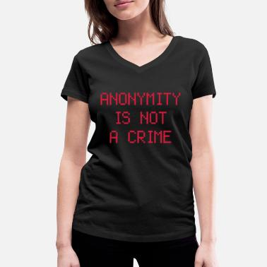 Provocation anonymity - Women's Organic V-Neck T-Shirt