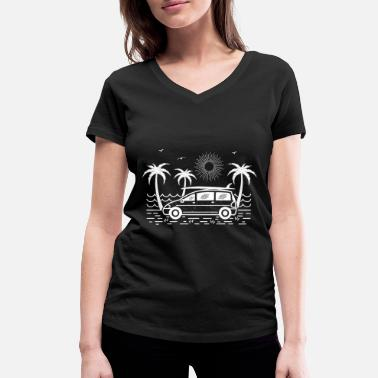 Surfbus Surfbus (dark background) - Women's Organic V-Neck T-Shirt