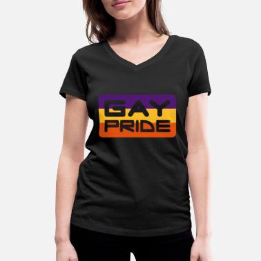 Quotes Gay Pride - Women's Organic V-Neck T-Shirt