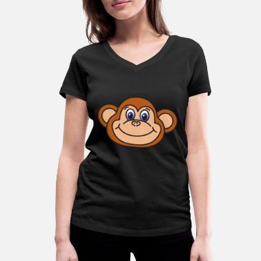 Chimpanzee Monkey chimpanzee - Women's Organic V-Neck T-Shirt