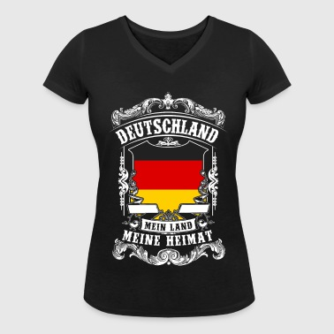 Germany - my country - my home - Women's Organic V-Neck T-Shirt by Stanley & Stella